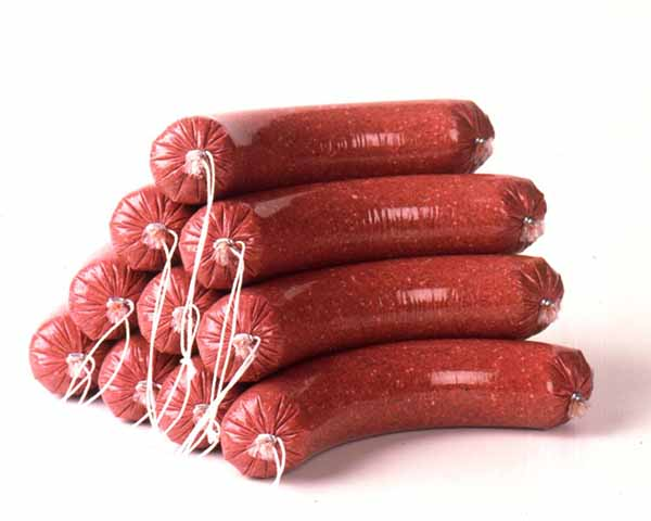 ausage casing closure------ sausage clips or yarn